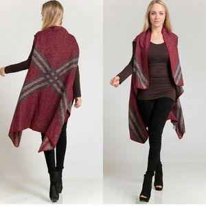 Jackets & Blazers - 💖Plaid Jacquard Knit Vest